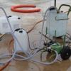 Plnička s lamelovým čerpadlem